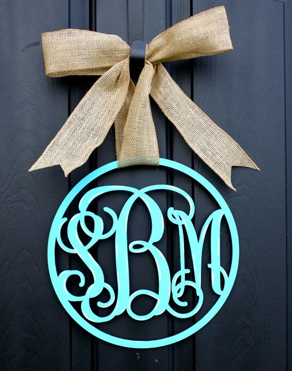 monogram door hanger 1