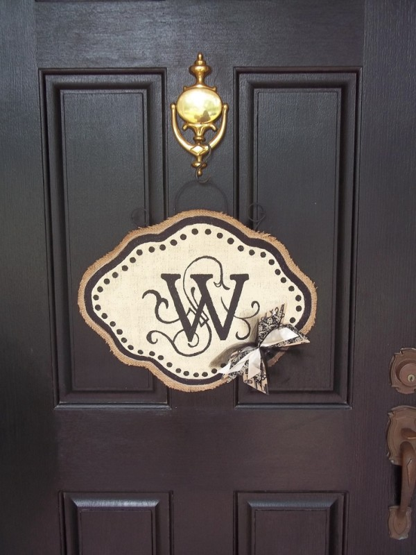 monogram door hanger 2