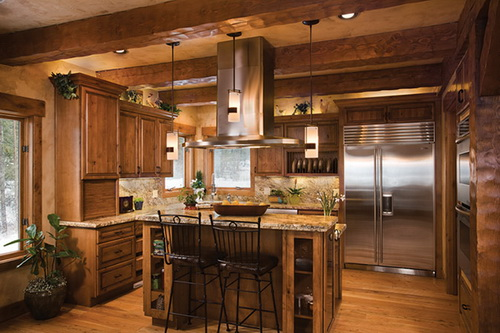 Interior, horizontal, kitchen, Bisbee residence, Sandpoint, Idaho, Precision Craft Inc.