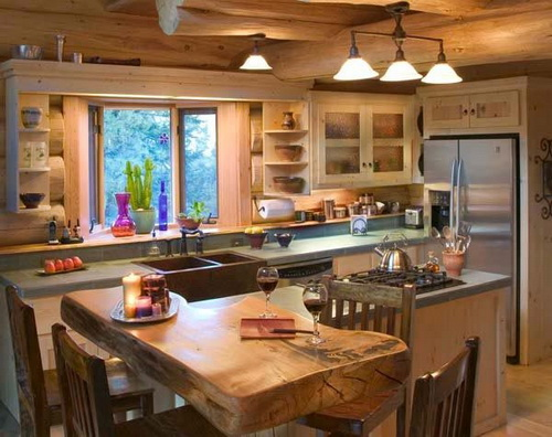 Kitchen-design-ideas-for-log-homes-photo-9