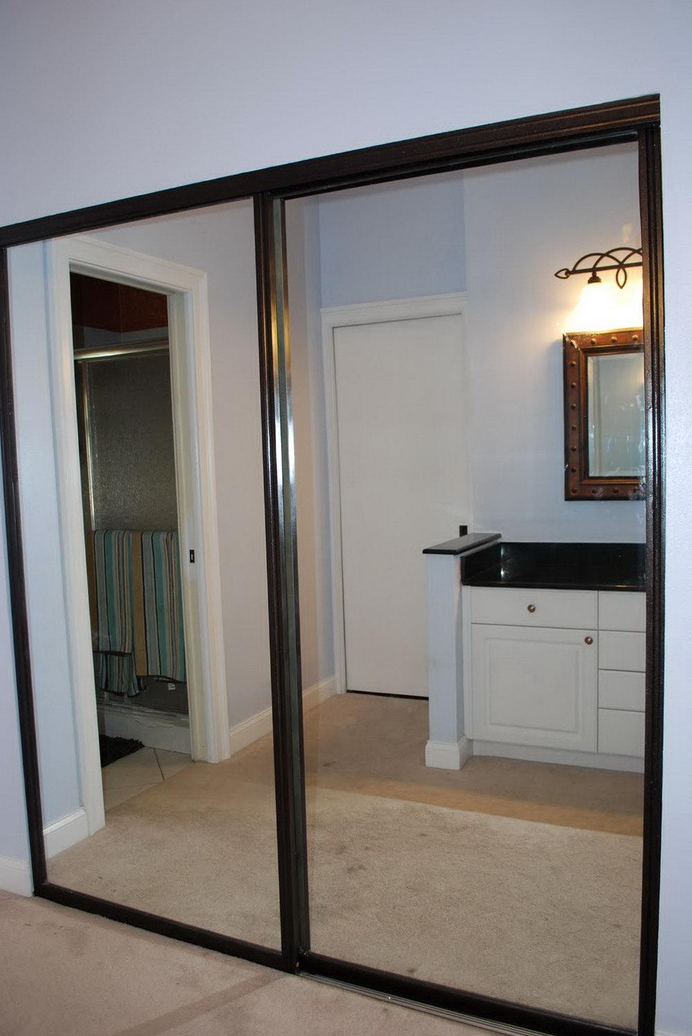menards closet doors mirror