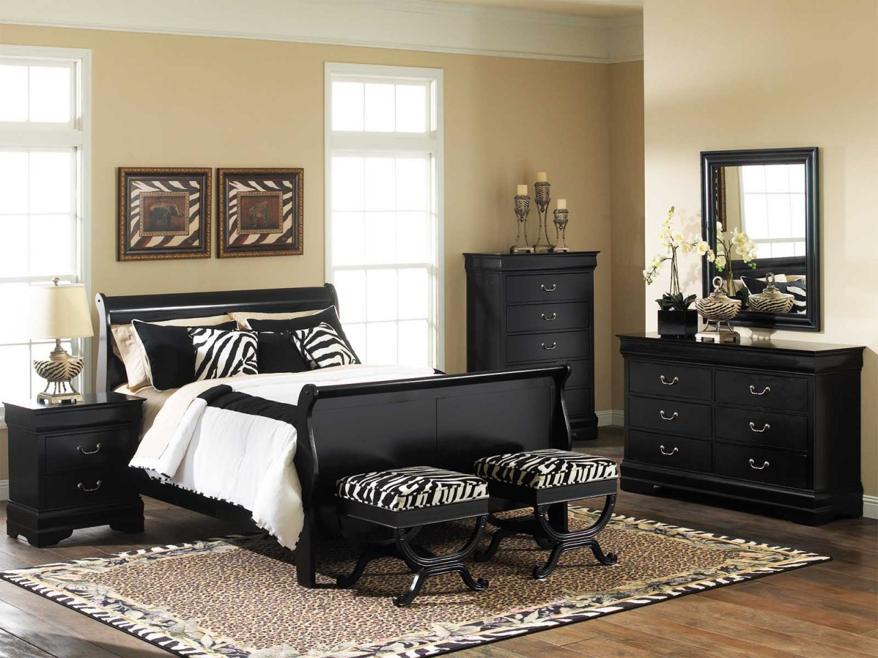 Decorate Your Bedroom The Stylish Black Lacquer Furniture Sets Interior