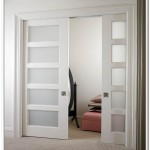 French doors interior frosted glass – an ideal material for use in any wardrobe door style