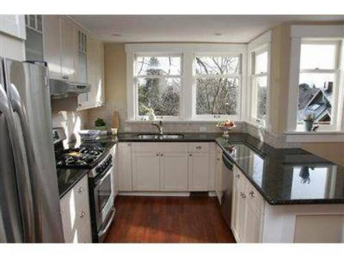Kitchen white cabinets dark countertops – give your kitchen fresh and elegant look