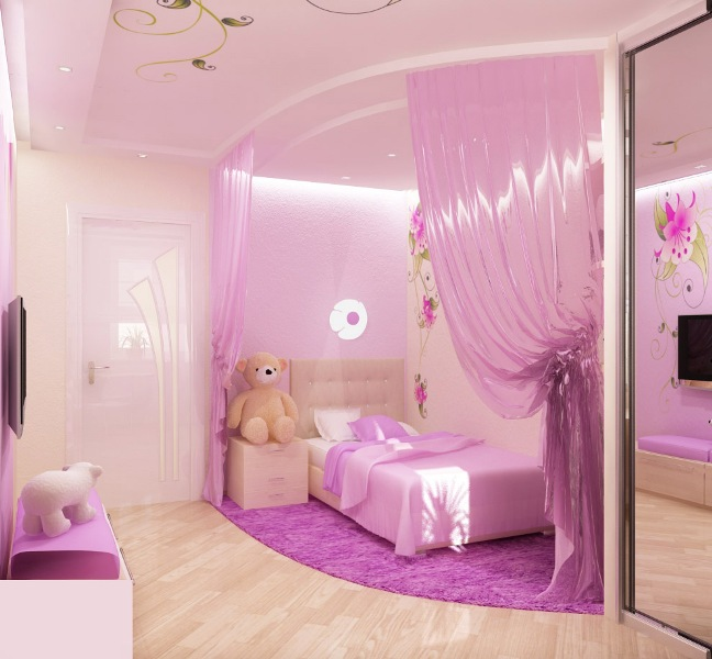 Little girl room ideas pink