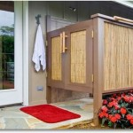 Outdoor shower door – 16 great places to clean up after working or playing outside