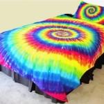 Rainbow tie dye bedding