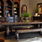 Rustic dining set with bench – Make your dining experience a royal setup