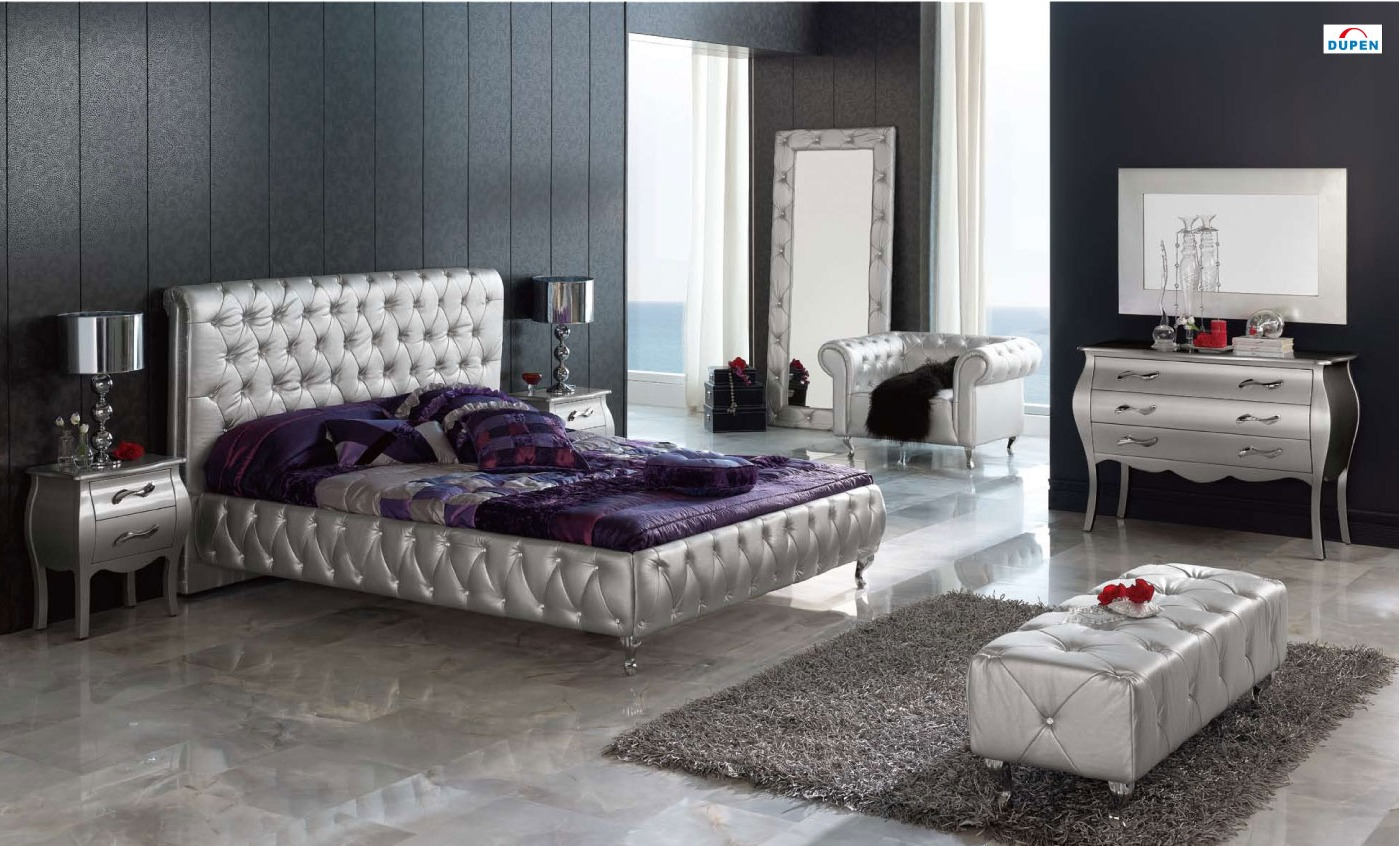 Silver bedroom furniture sets – reflect a clean and clutter-free style
