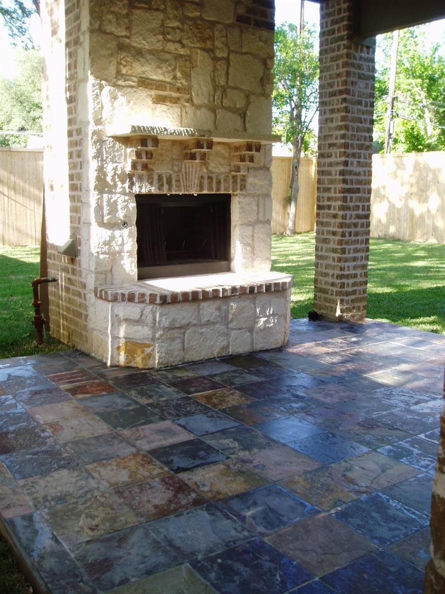 Outdoor Tile Patio Diy