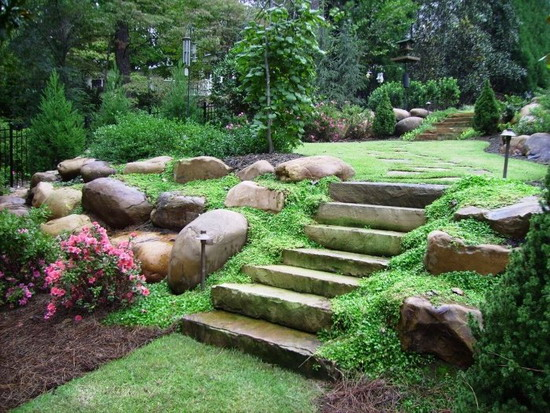 Sloped rock garden ideas – Beautiful Sloped Rock Garden To Enhance Your Yard