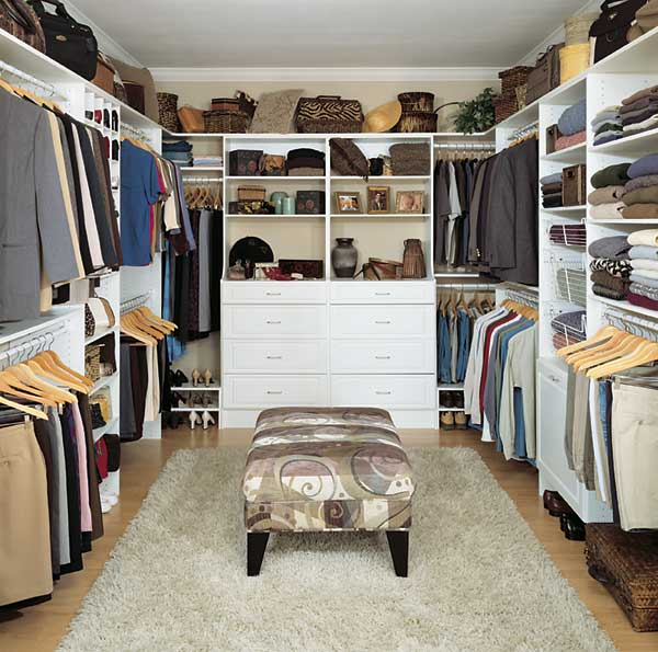 Walk in closet design plans – 15 ways to make a right judgment at home in presence of light and furniture