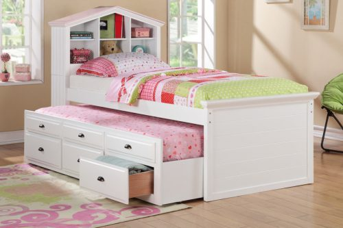Bright Little Girls Room Interior White Twin Bedroom Furniture