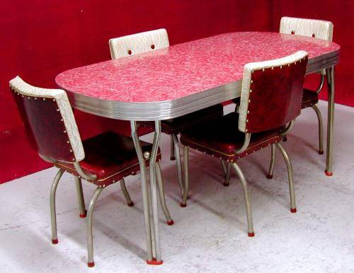 1950's retro kitchen table chairs photo - 1