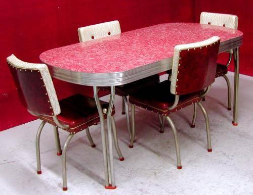 1950's retro kitchen table chairs photo - 1