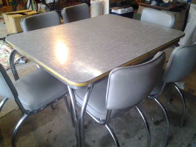 1950's retro kitchen table chairs photo - 2