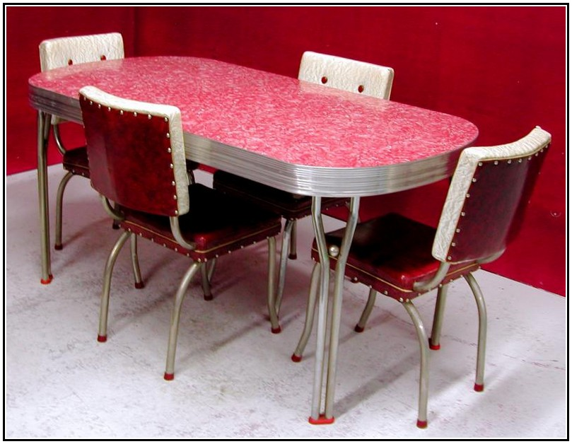 1950's retro kitchen table chairs photo - 3