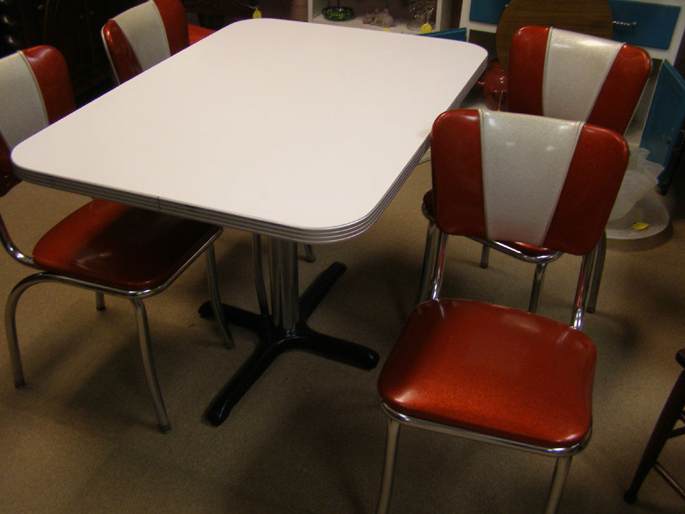 1950's retro kitchen table chairs photo - 4