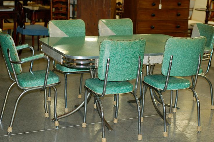 1950's retro kitchen table chairs photo - 5