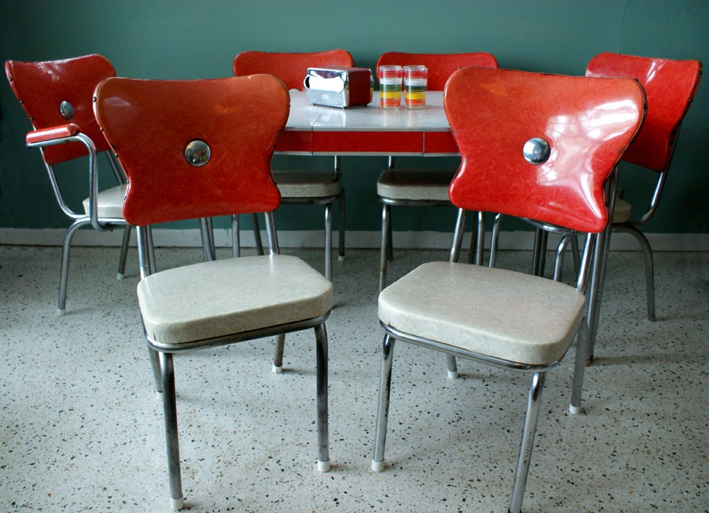1950's retro kitchen table chairs photo - 6