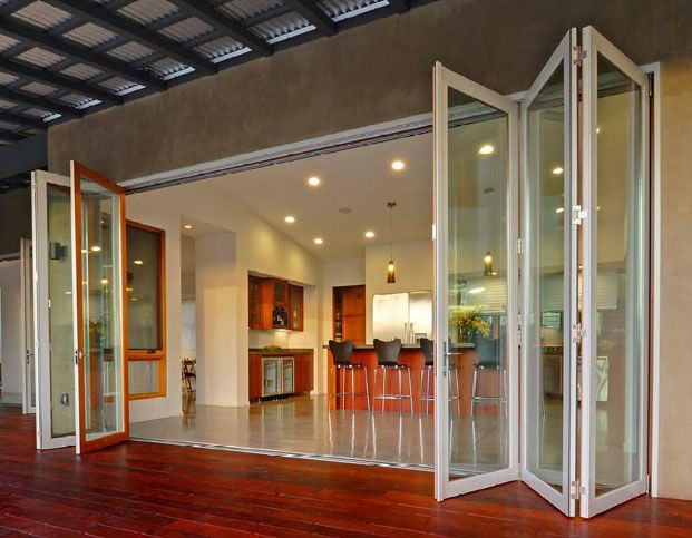 accordion glass doors photo - 8