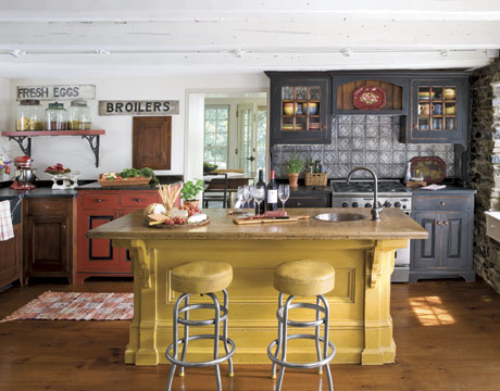 american country kitchen designs photo - 4