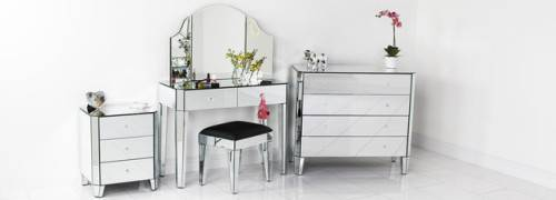 art deco mirrored bedroom furniture photo - 1