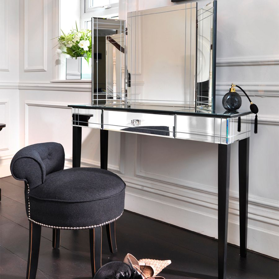 art deco mirrored bedroom furniture photo - 5