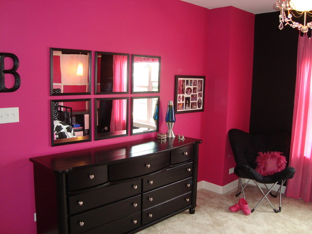black & pink bedroom designs photo - 1