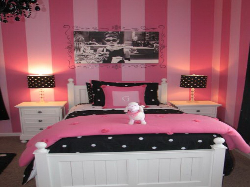 black & pink bedroom designs photo - 5
