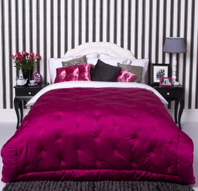 black & pink bedroom designs photo - 6