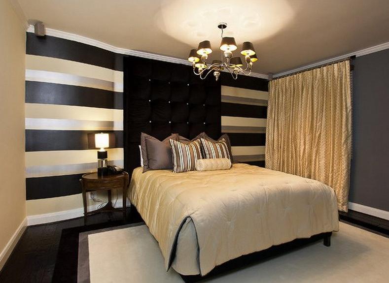 black and gold bedroom design photo - 6