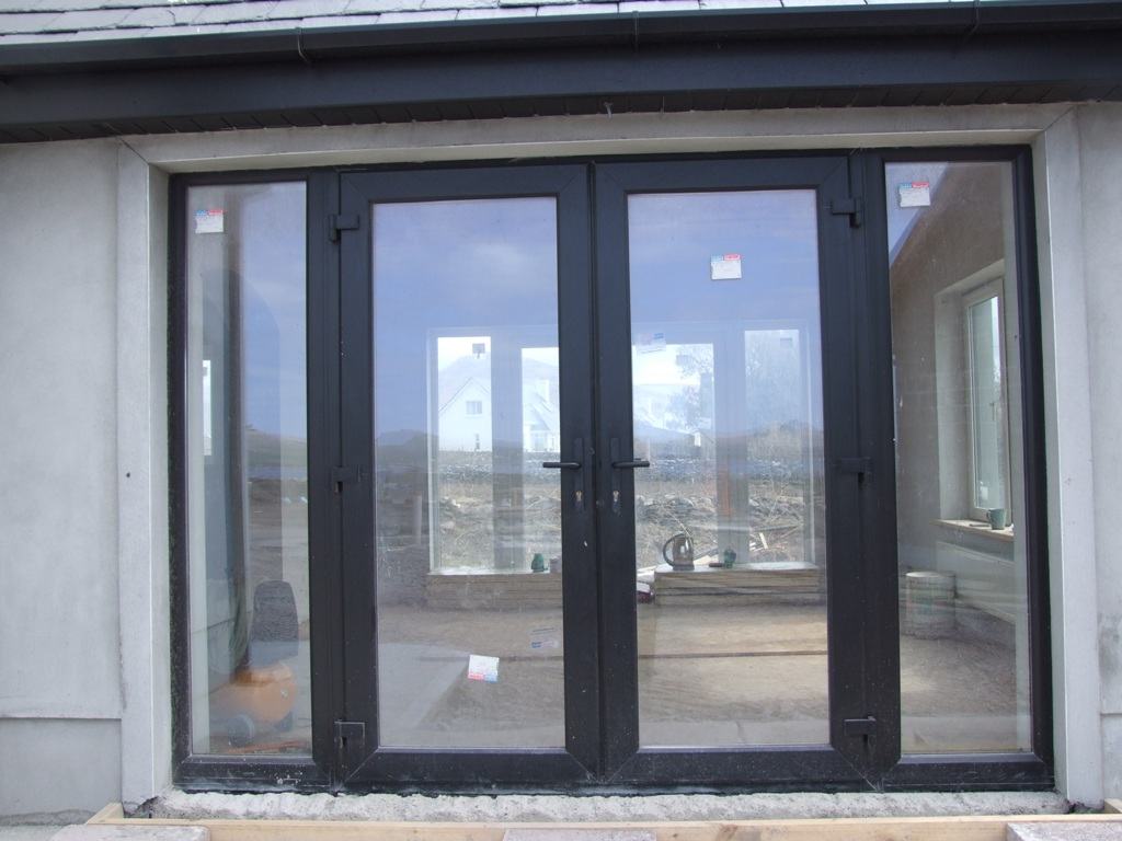 black french doors exterior photo - 1