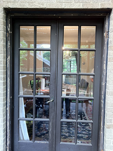 black french doors exterior photo - 4