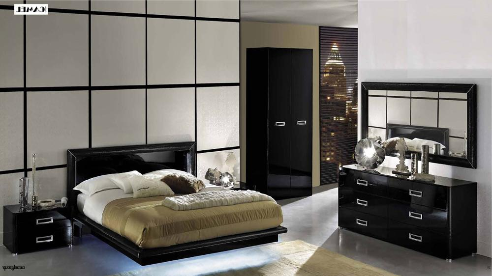 black lacquer bedroom furniture sets photo - 2
