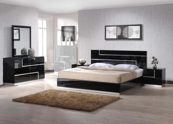 black lacquer bedroom furniture sets photo - 4