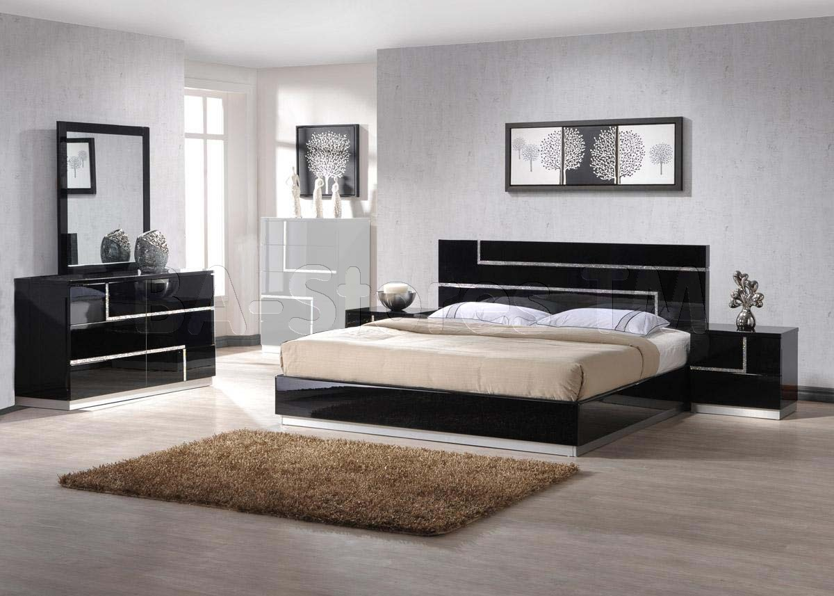 black lacquer bedroom furniture sets photo - 6