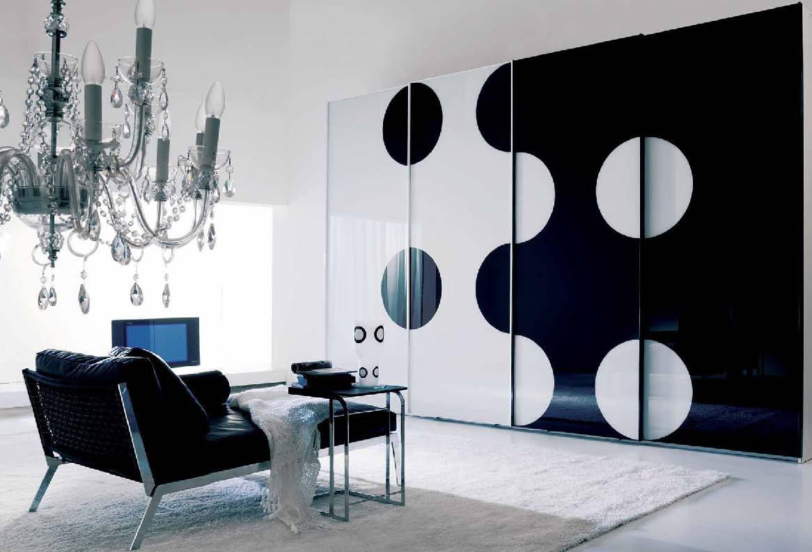 black mirrored glass bedroom furnitu photo - 1