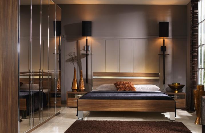 black mirrored glass bedroom furnitu photo - 5