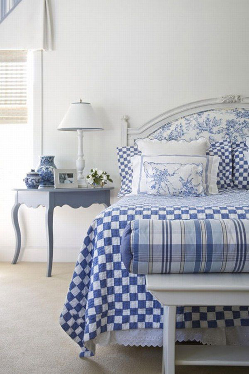 blue and white bedrooms images photo - 1