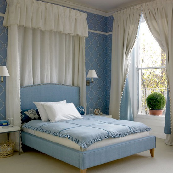 blue and white bedrooms images photo - 5