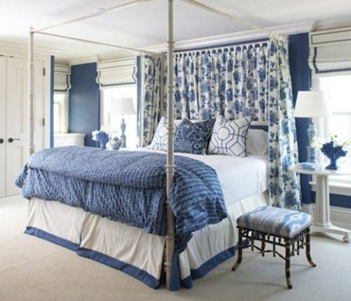 blue and white bedrooms images photo - 6