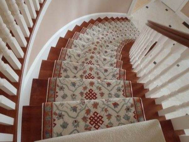 carpet runner for stairs over carpet photo - 1