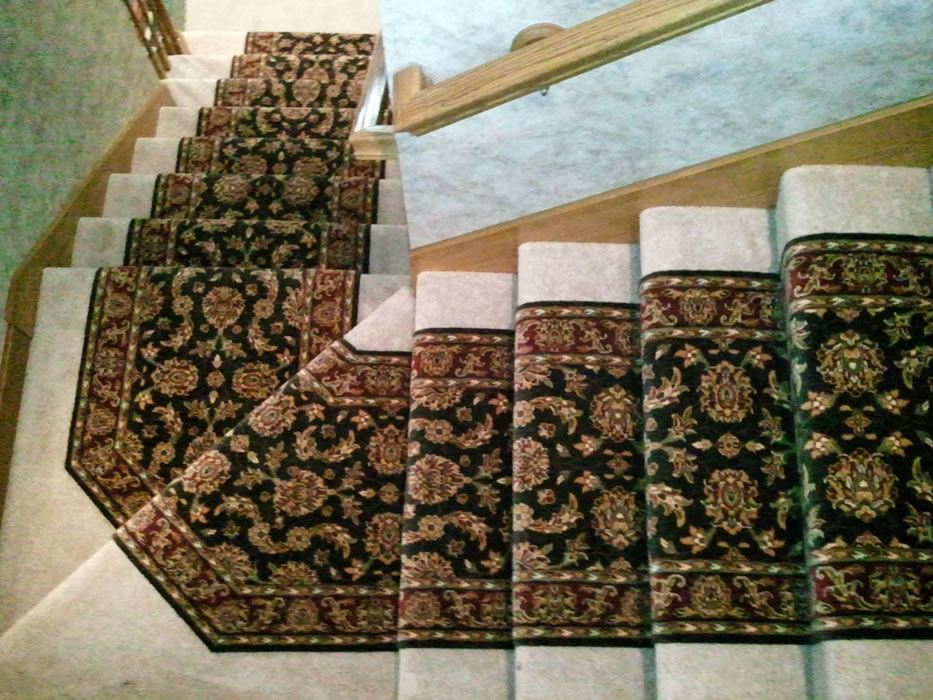carpet runner for stairs over carpet photo - 2