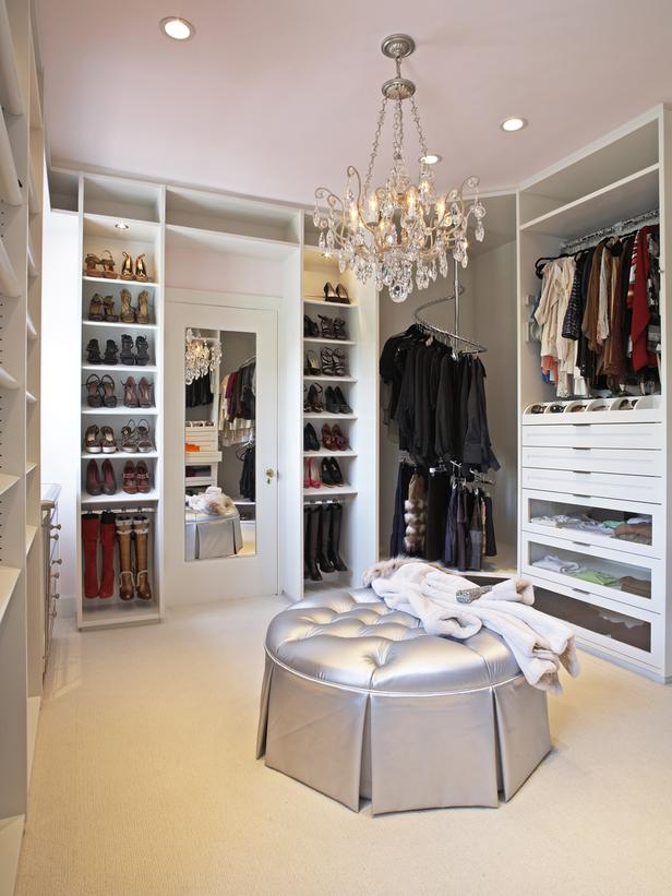 contemporary walk in closet design photo - 1