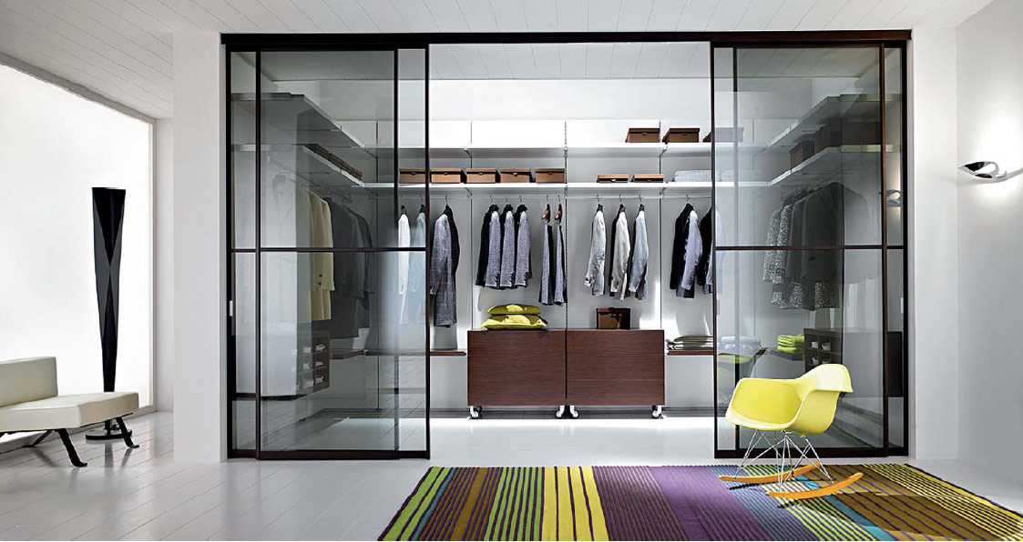 contemporary walk in closet design photo - 2
