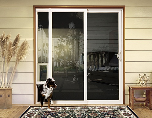 dog door for sliding door photo - 2