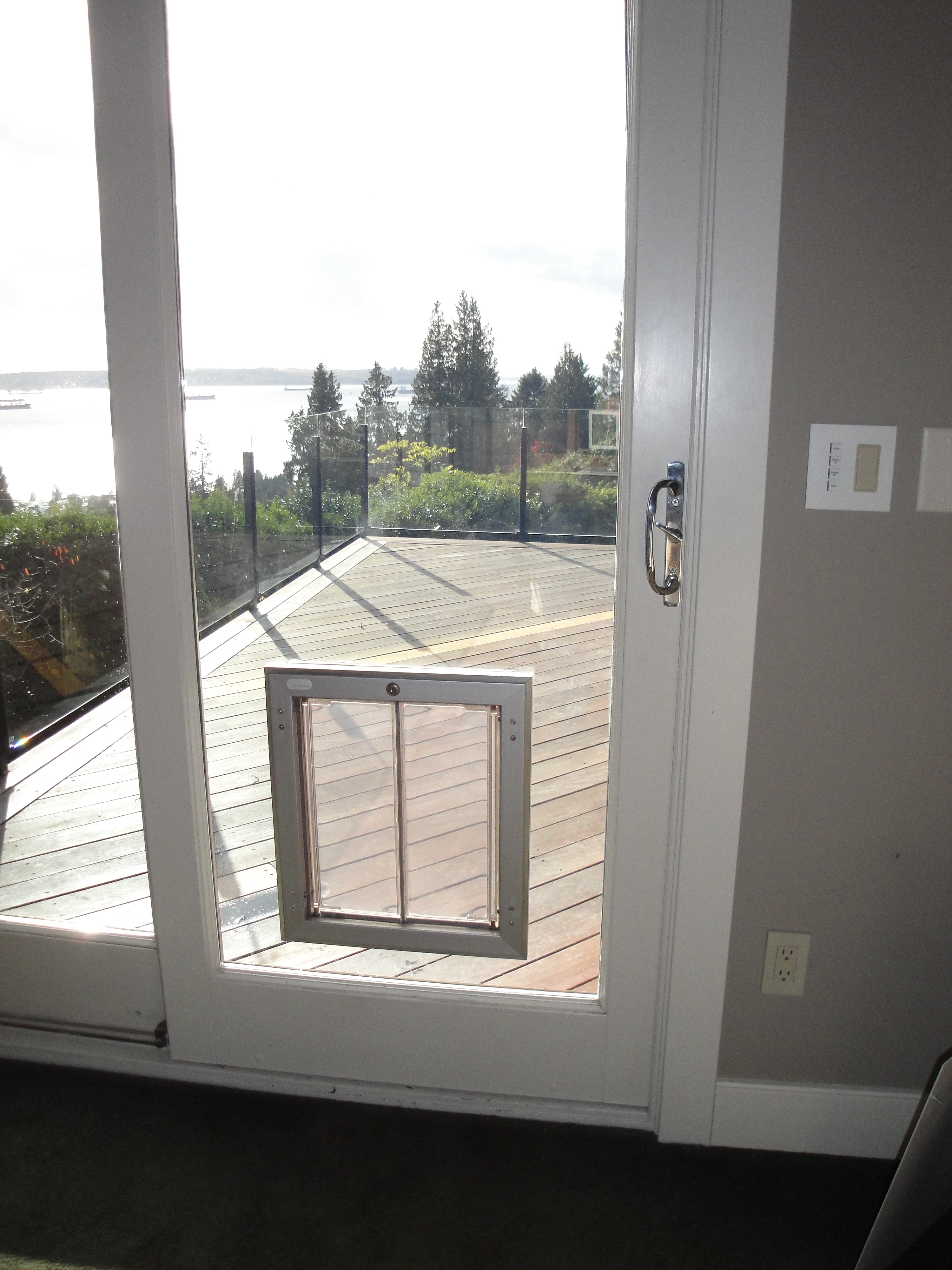 dog door for sliding glass door photo - 9