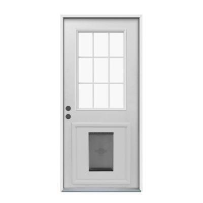door with built in dog door photo - 10