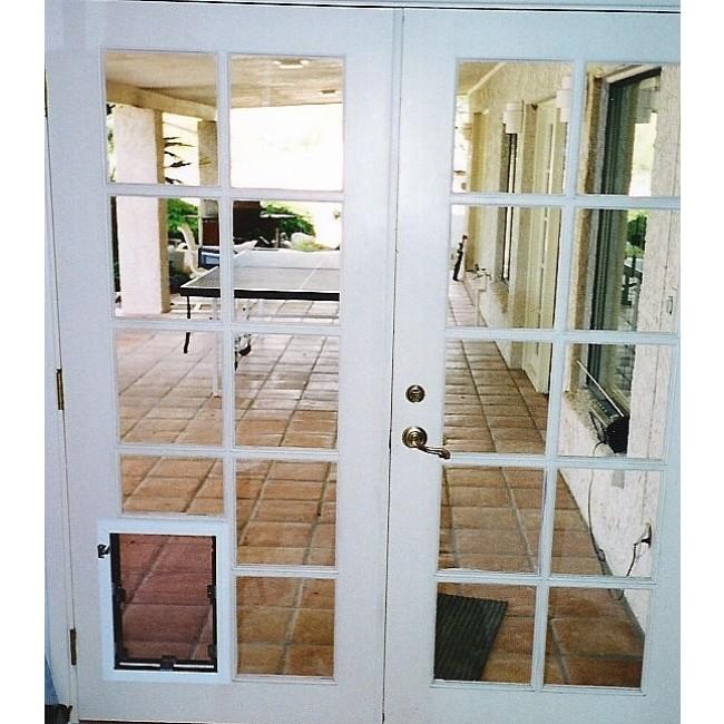 door with built in dog door photo - 6